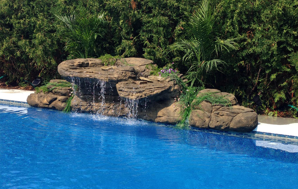 The Beachcomber  pool rock waterfall